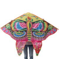 Wholesale 2015 Best Hot Sale Colorful Glowing Foldable Butterfly Kite With With Handle And m Line Outdoor Fun Sports Children s Toys