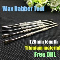 Wholesale wax dabber tool wax atomizer stainless steel dab titanium nail cleaning tool for wax dry herb vaporizer pen snoop dogg micro G skillet