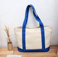 Wholesale Colors thick cotton canvas bags canvas shopping bags fashion handbags classic shoulder carry bag
