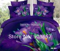 adult popular comforter set - Popular Purple Floral Printed pc D Bedding Girls Comforter Full Queen Duvet Quilt Cover Bed in a Bag Coverlet Bedspread Sets