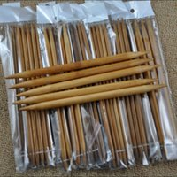 sewing needle - Brand New sizes cm Double Pointed Carbonized Whiten Bamboo Knitting Needles per bag Free DHL