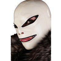 al por mayor gags máscara-Mejores Capuchas de Bondage de Latex Máscara de Bondage de Látex con Mordaza de Boca Látex Natural Latex Fetish Hoods