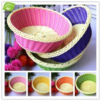 woven basket - 5 Multifunctional Plastic Fruit Basket Storage cesta Baskets Plastic Weave Basket For Household With Size CM dandys