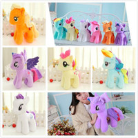 Wholesale 25CM high quality pony toy doll pony plush stuffed toys rainbow horse plush toy doll my little pony
