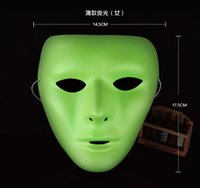best scary masks - Scary White Face Masquerade DIY Mime Mask Ball Party Costume Masks Best Tricky Gift Toys in Halloween