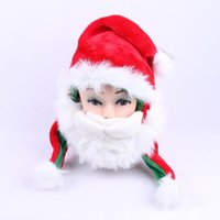Wholesale Cute Christmas items Santa Claus hat funny hat winter Fashion leisure accessories Red White Christmas gift