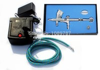 art model kits - New MM Fine line Dual action airbrush compressor Complete kit for Nail art toy Hobby Model AC06 K
