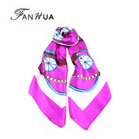 Wholesale New Fashion High Quality Colorful Printed Silk Square Scarves For Women