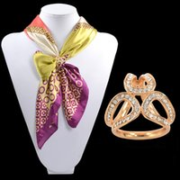 airline towel - Fashion Scarf Shawl scarves buckle ring buckle Korean high grade scarf buckle Brooch all match towel ring airline stewardess