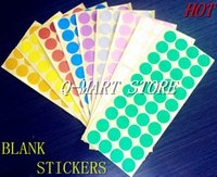 Wholesale 30 mm Blank Round Adhesive Kraft Paper Sticker for Handmade Products Gift seal stickers label Wall Decoretion