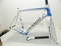 Wholesale 2014 colnago M10 carbon bike frame Cycling Frameset Road Racing Bike Frame black white Full Carbon Fiber Bicycle Parts size cm