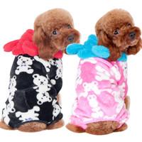 Wholesale Dog clothes manufacturers selling mini BB bear coral fleece pajamas Pet household to take The dog dog autumn winter pajamas