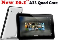 Wholesale 10 inch Allwinner A33 A31S Quad Core Tablet PC Android KitKat GB RAM G ROM Dual Camera Bluetooth Free DHL