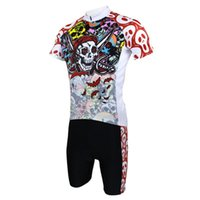 Wholesale Hot sale New Mens Cycling Jersey Shorts Set Bike Clothing Paladin Sport Pirate Ghost S XL