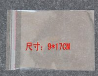 Wholesale 9 cm transparent OPP bag self adhesive plastic bags jewelry bags