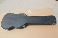 Wholesale Brand New High Quality Black Artificial Leather Guitar Hard Shell Case for Custom Standard Electric Guitar
