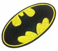 Wholesale Wholesales Pieces Comic Movie Batman Logo Velvet x cm Kids Patch Embroidered Iron On Applique Patch