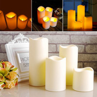 Wholesale Cylindrical Flickering LED Candle Light Flameless for Garden Yard Christmas Lamp table lamp Decoration LEG_285