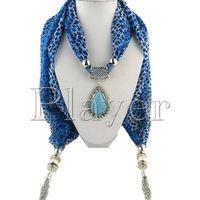 Wholesale Mixed Pendants Leopard Grain Jewelry Beads Scarf Skulls Scarf Lady Chiffon Magic Scarves via DHL