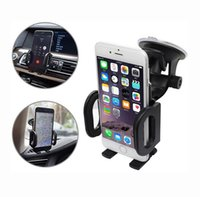 Wholesale New Black ABS Material Degree Rotatable Multi functional Car Phone Holder With Magic Sucker For Apple Samsung and Huawei