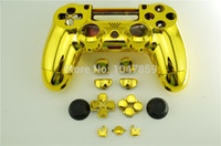 playstation 4 - New Arrival Chrome Gold Silver Red Blue Controller Shell Housing Cover For Sony Playstation PS4 Controller Shell