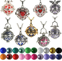 bell chimes - 2015 Chimes Pregnancy Ball necklace Mexico Bola ball chain box Bell Necklace pendant Fetal education angel caller necklace style