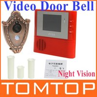 aids video - 2GB Digital Peephole Doorbell M with Night Vision Aid Video Record Home Security Red