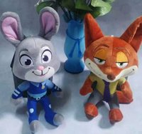 big sat - Zootopia Movie plush toys Nick Wilde and Judy Hopps Fox Rabbit Sat Stuffed Cartoon Dolls Best Gift Cute Plush Toys cm Free