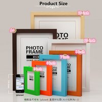 photo frame - New Colorful Timber Photo Frames Multi size Wooden Photo Frame Handmade oil painting frame DIY Art Decor Love Home Decoration Fashion Gifts