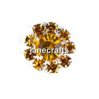 Wholesale Topaz Rhinestone Buttons Bling Botoes Flatback For Apparel Accessories Hair DIY Jewelry Embellishment mm