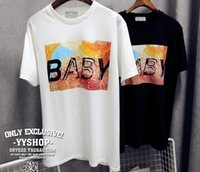 baby t shirt men - 2016 new summer European and American fashionable brand baby letter lovers GD G dragon men and women round neck cotton short sleeved t shirt