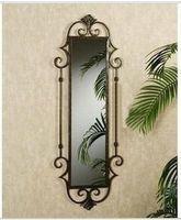 Wholesale European style wrought iron mirror dressing mirror full length mirror hanging mirror mirror retro minimalist modern metal white