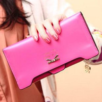 Wholesale New fashion female purse lovely bow card wallets long wallet factory explosion models