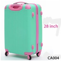 Wholesale 28 Inches Women Travel Suitcases Luggage Travel Bag ABS Travel Luggage Rolling Luggage CA004