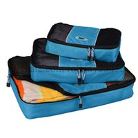 Wholesale New Packing Cube pc Set Women s and Men s Travel Bags Nylon Travel Organizer Bags luggage travel bags