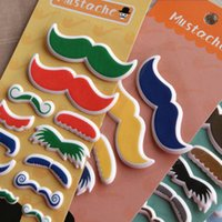 artist games - Free ship pc Artist foam mustache stereo sticker mobile phone stickers decorative stickers games