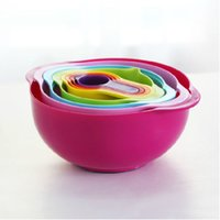 Wholesale The Joseph Like Nest Plus pieces Kitchen Colorful Measuring Cups Mixing Bowls Set Compact Food Preparation Set