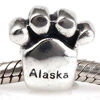 alaska flower - New DIY Antique Alaska Charms Original Authentic Sterling Silver Beads fit for Pandora bracelets Necklaces