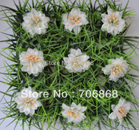 Wholesale 36 pieces artificial long grass mat boxwood mat with silk rose flowers of different colors