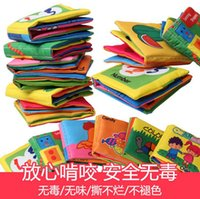 Wholesale 6 styles Baby cloth book for Early learning education cloth toys baby fabric book in english fit Y RK45452