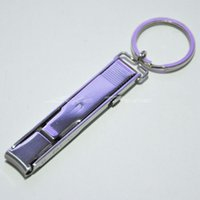 Wholesale Nail clippers mm folding nail clipper Stainless steel nail clippers Keyring portable nail tools