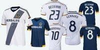 beckham home - 2015 Thai quality Los Angeles Galaxy Jersey Home Away top quality Gerrard Beckham men Football shirt Galaxy soccer Jersey