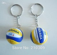 beach volleyball tops - Top beach volleyball PVC cm keychain key ring business gifts color