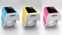 envío libre palillo movimiento del ratón del aire de Bluetooth BLE4.0 recargable táctil inalámbrico USB ratón óptico de la voluta ratones rueda del ratón