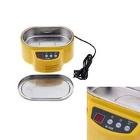 Wholesale Home Mini Ultrasonic Cleaner for Jewelry Glasses Circuit Board Watch CD Lens W W V LED Display tools E0721