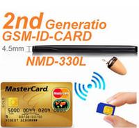 Wholesale 4 Watt GSM ID BOX Hidden In Ear Wireless Earpiece spy Complete Kit Invsible GSM Credit Card ID BOX KIT