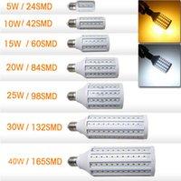20w led bulb - DHL Free Shippin LED Corn Bulb W W W W W W W Cree LED E27 LED Bulbs AC110 V Warm White Cool White high luminous fulx