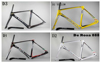 trek bike - 2014 De Rosa SuperKing Superking E Nero Silver Carbon Frames Italy Quality Road Bike Frameset Red and Black Trek Carbon Frames