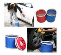 Wholesale Portable Outdoor Camping Folding Car Washing L Fishing Hiking Bucket Barrel AE01576 order lt no track