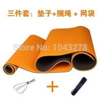Wholesale cm cm mm mat bag rope Tpe Yoga Mat Set Thicken Slip resistant Fitness Weight Loss Exercise Double Color Blanket